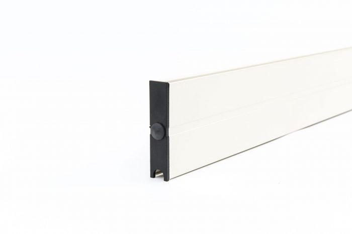 6-rail glazen schuifwand antraciet van 588 cm breed met een totale hoogte van 200 cm