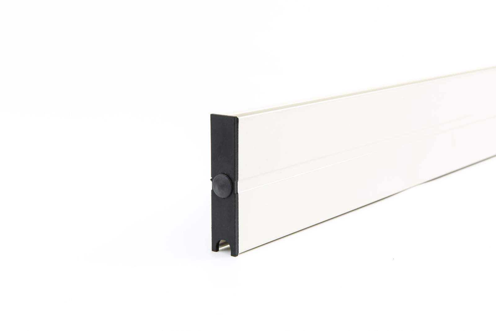 6-rail glazen schuifwand crèmewit van 588 cm breed met een totale hoogte van 200 cm
